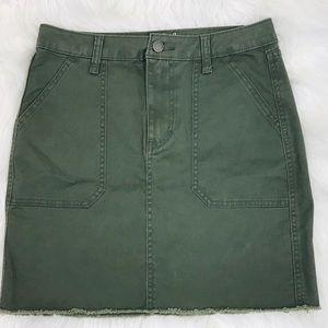 Universal Thread Mini Skirt Sz 2 / 26 Army Green